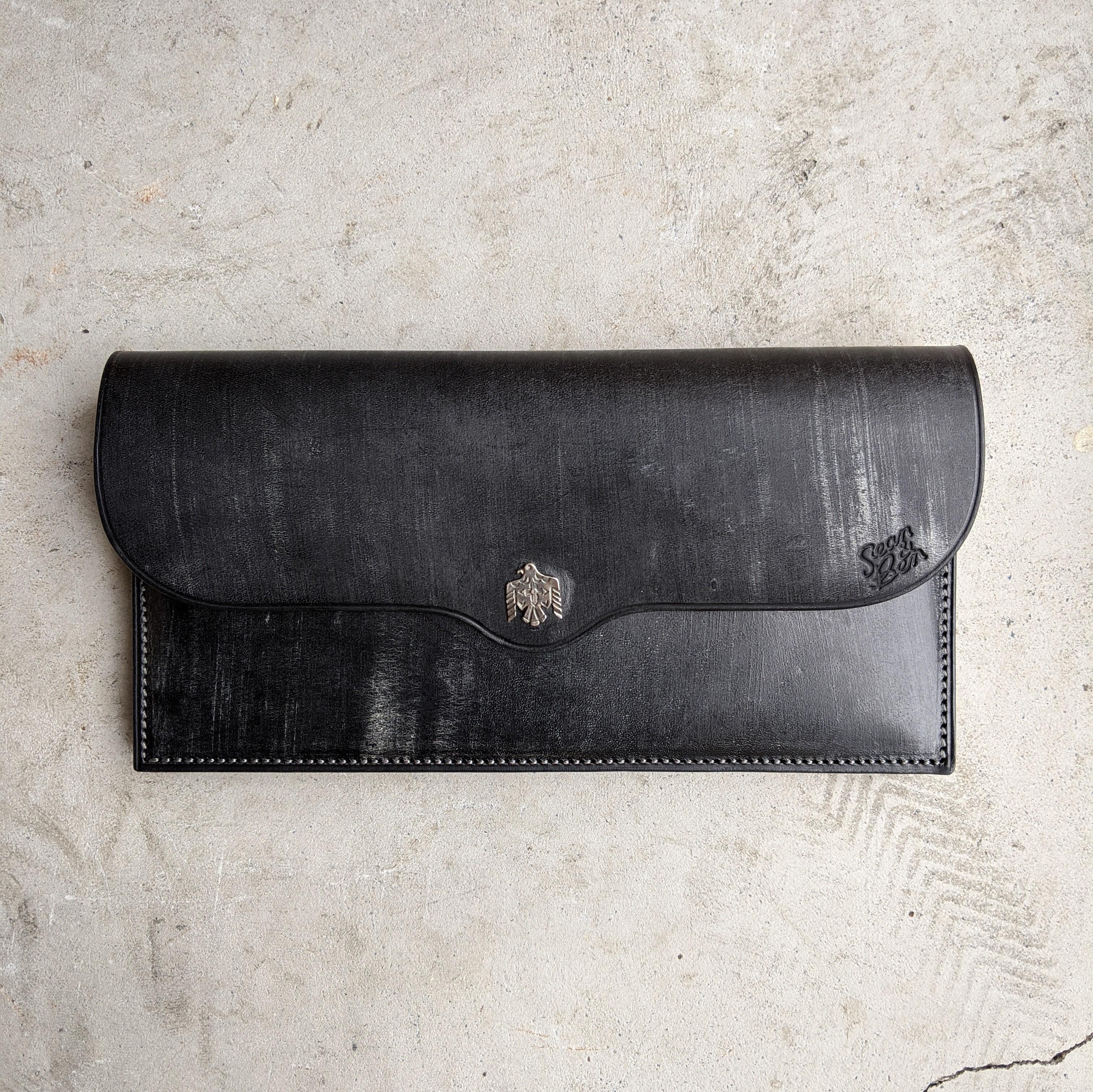 925 EAGLE WALLET -BLACK-