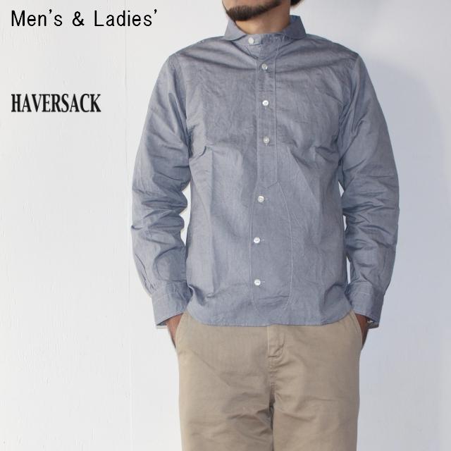 HAVERSACK 丸襟シャツ BASIC SHIRTS 4212734 (BLUE)