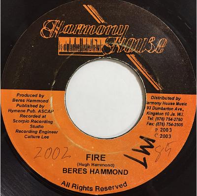 Beres Hammond(ベレスハモンド) - Fire【7'】