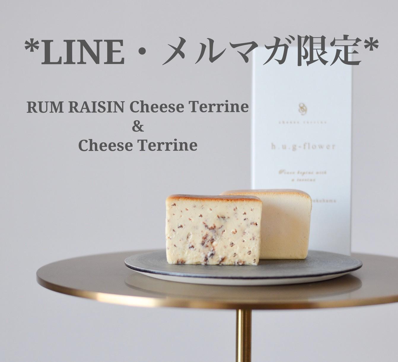 ★LINE・メルマガ限定★ラムレーズン&チーズテリーヌセット販売