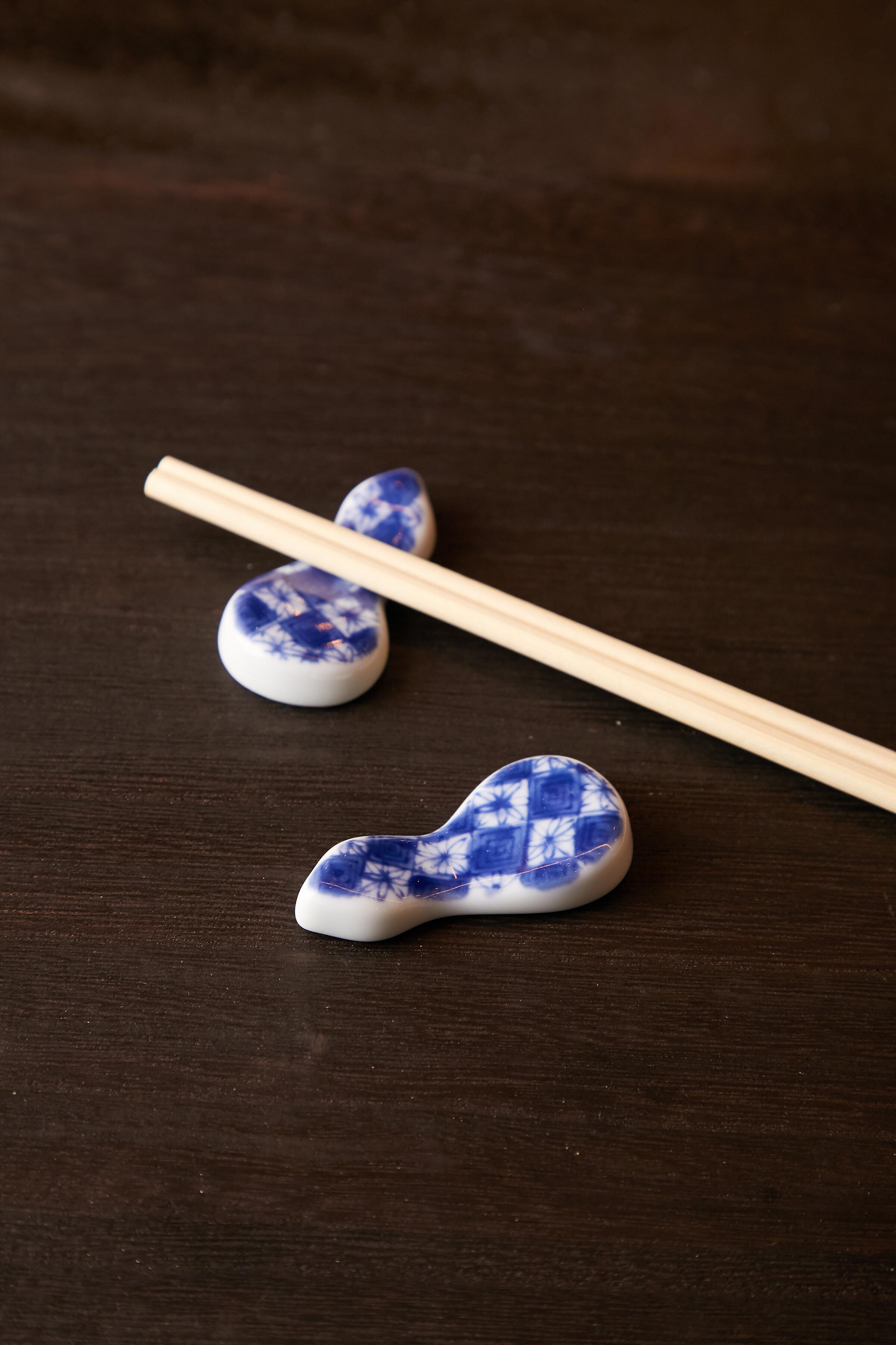 濃市松 ひさご箸置き 日本製 美濃焼【送料無料】