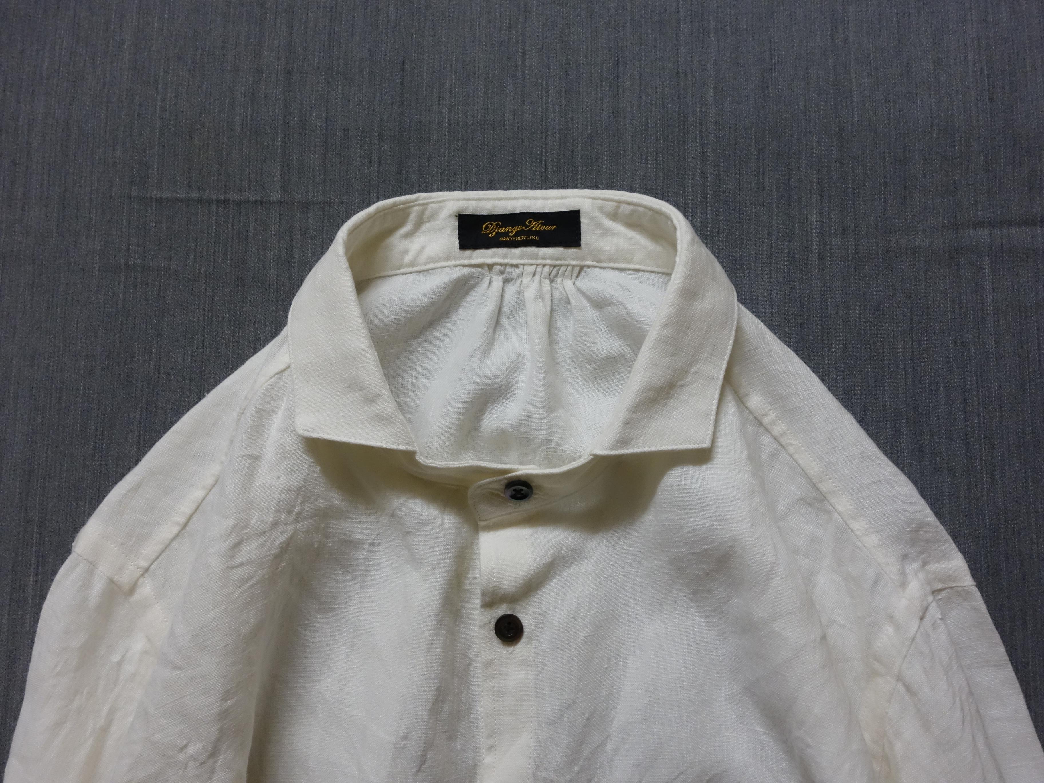 classic frenchwork premiumlinen shirt / natural white