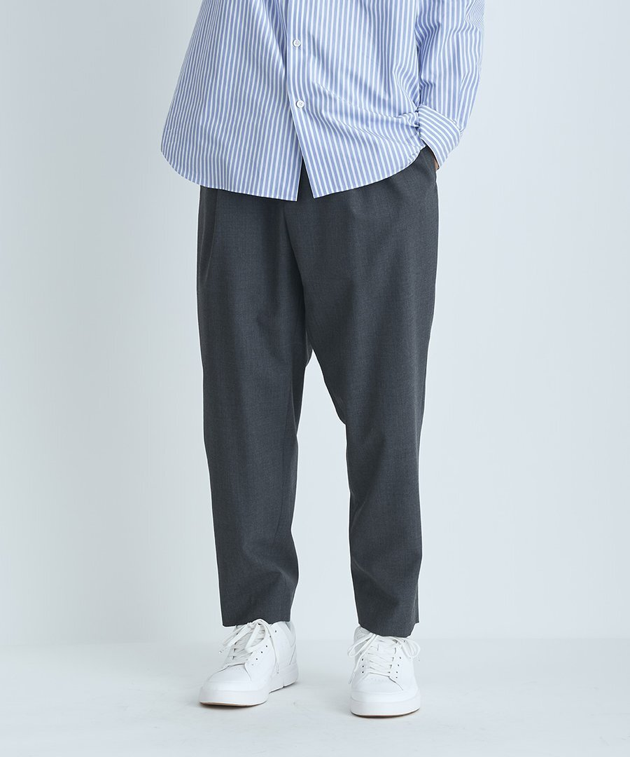 【ATON】WOOL TROPICAL   EASY TAPERED PANTS