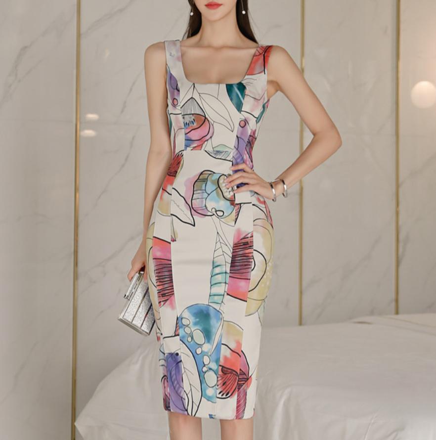 air  color dress 2color