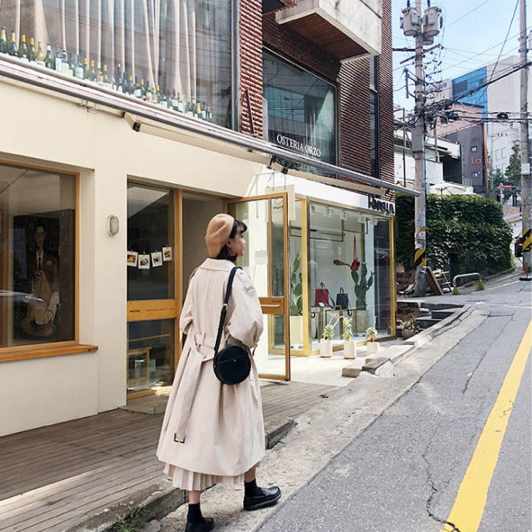 〈カフェシリーズ〉ミルクラテの韓国風ウインドブレーカー【milk latte Korean wind breaker】