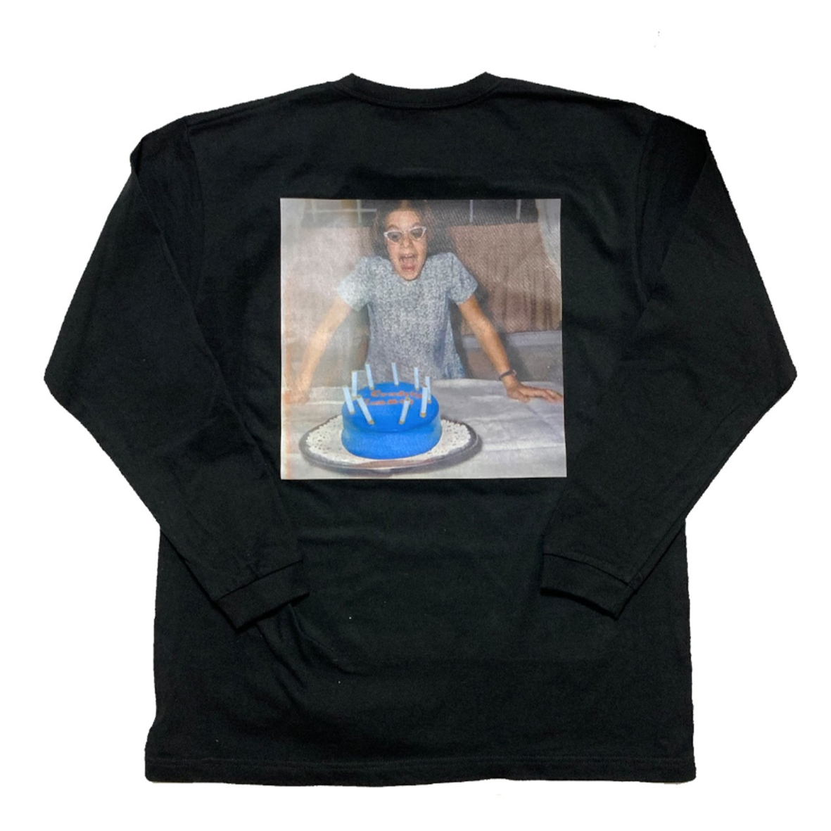 【Crudely Hommes】Girl with Cake Heavy Cotton Long Sleeve