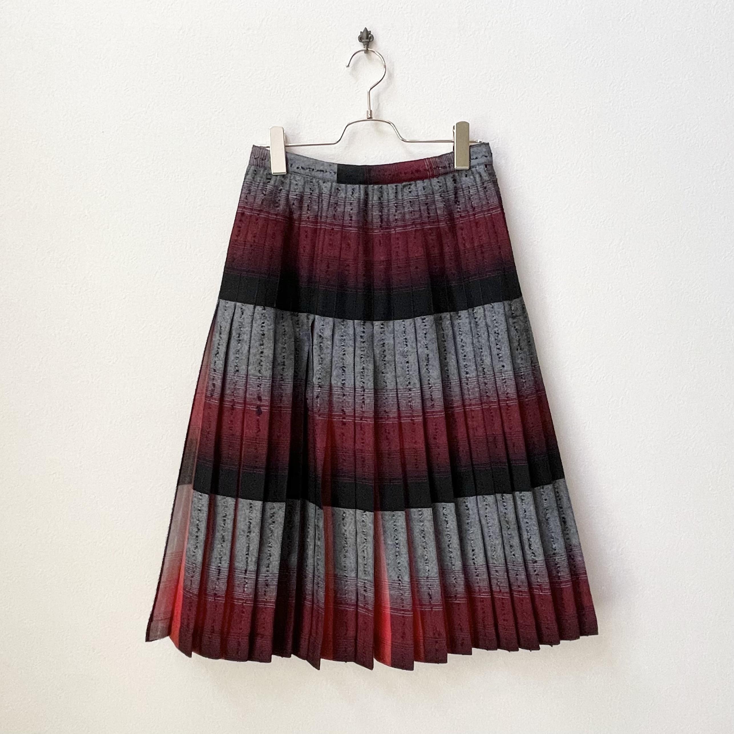 Highland Queen 60年代 CANADA製 ヴィンテージ ウール プリーツスカート アメリカ 古着 日本M〜L