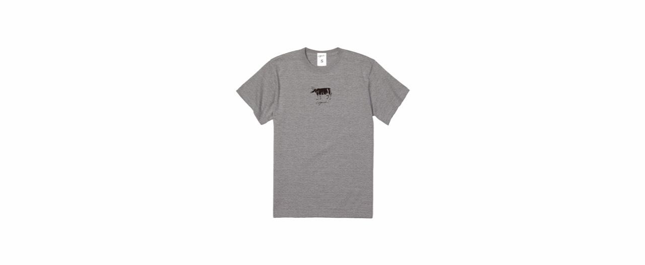 coguchi cow unisex Tshirt (GRY)