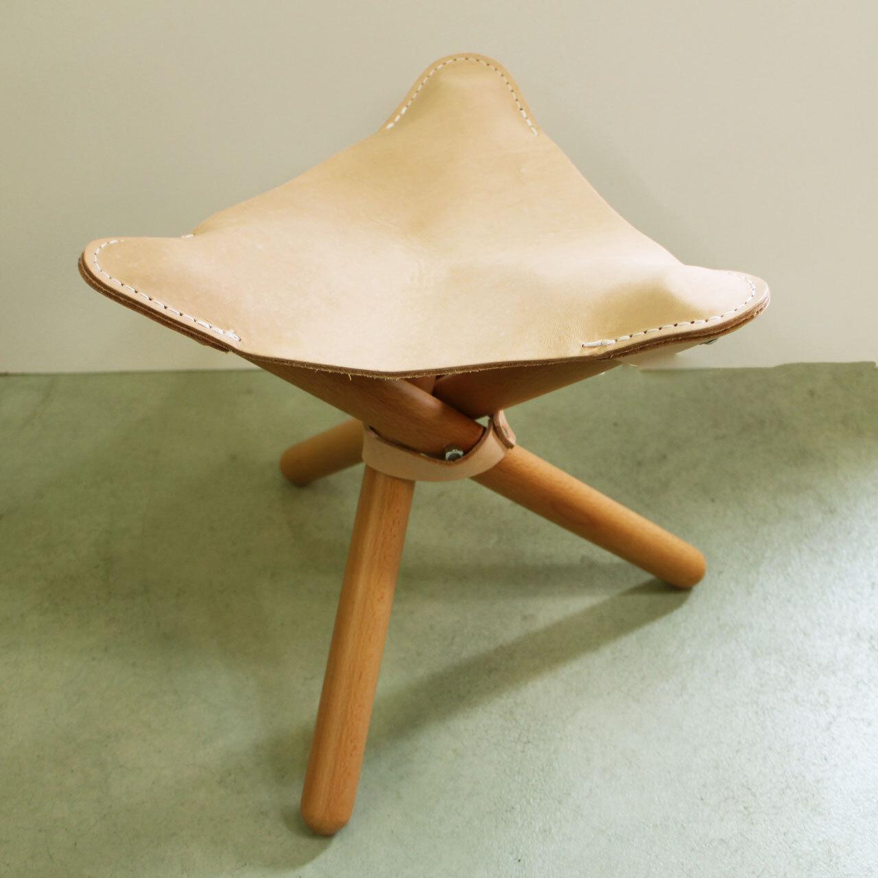 ROMO ロモ  sansa chair  サンサチェアー  ヌメ革の折り畳み椅子