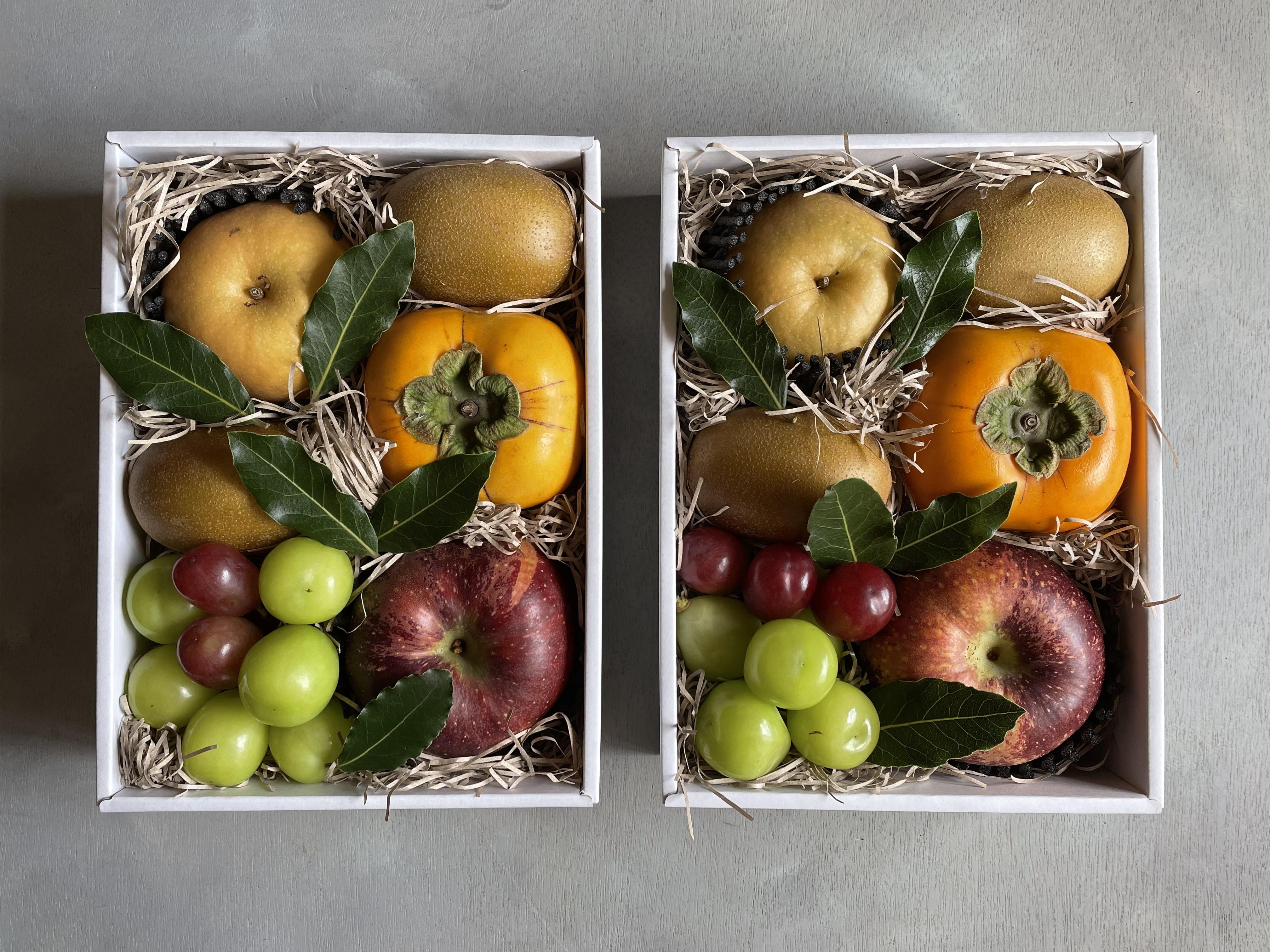 【期間限定】秋の果物セット白化粧箱