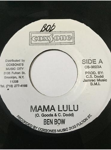 Ben Bow(ベンボウ) - Mama Lulu 【7'】