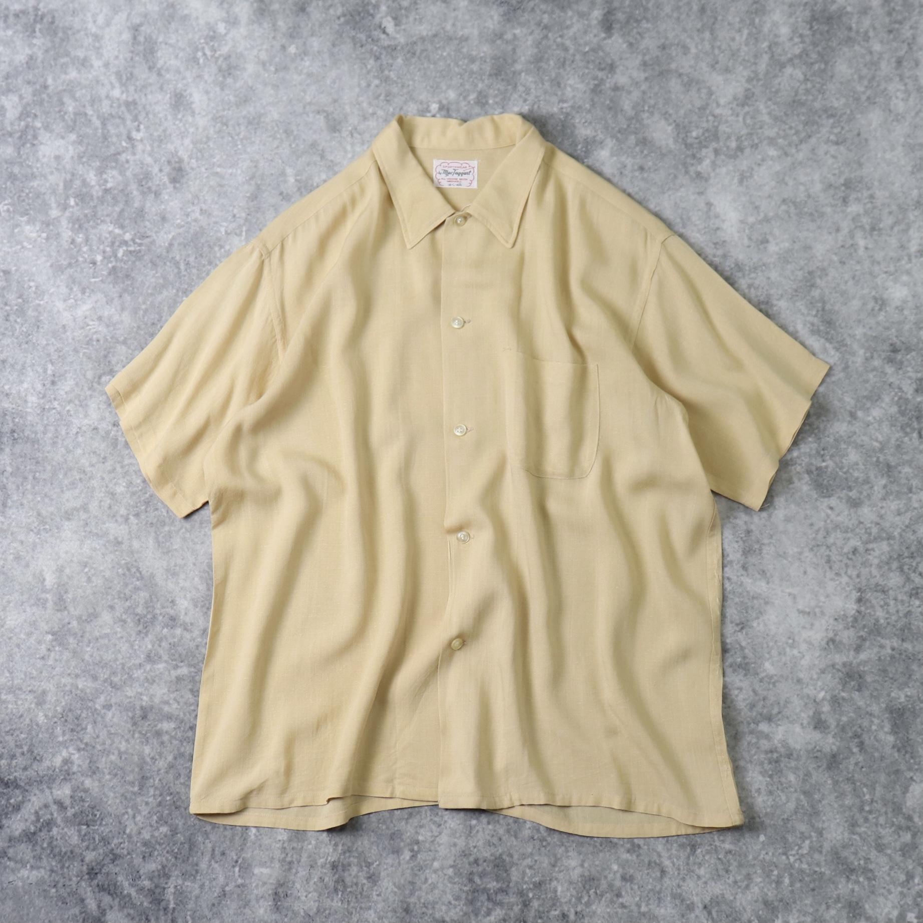 60年代 ''Mac Taqqant'' レーヨンシャツ 半袖シャツ 古着 A795