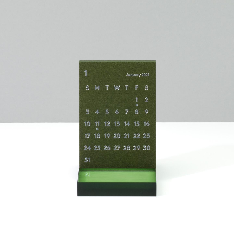 'CLARA' Desk Calendar 2021 Olive