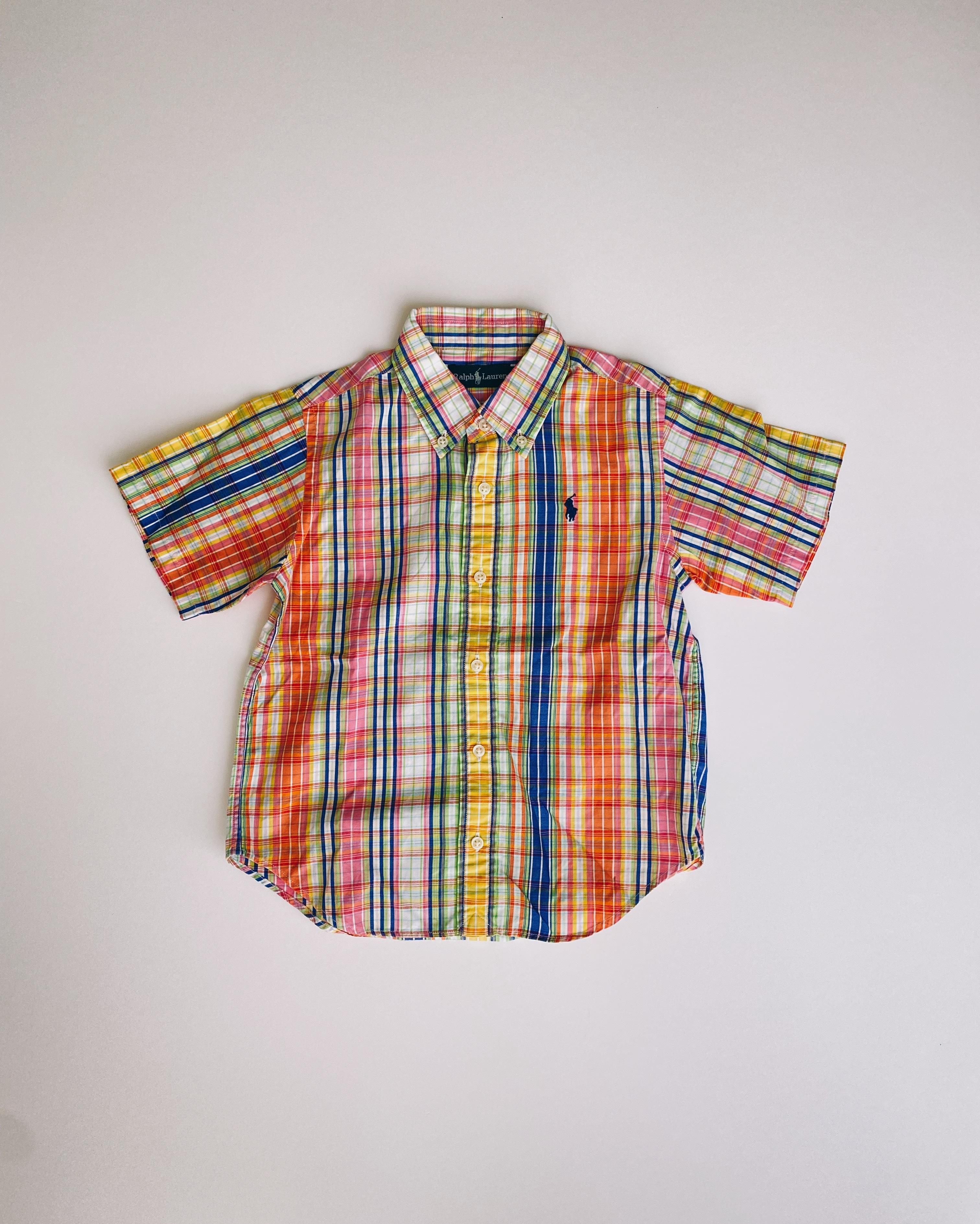 (KD066)110cm Ralph Lauren checked shirt