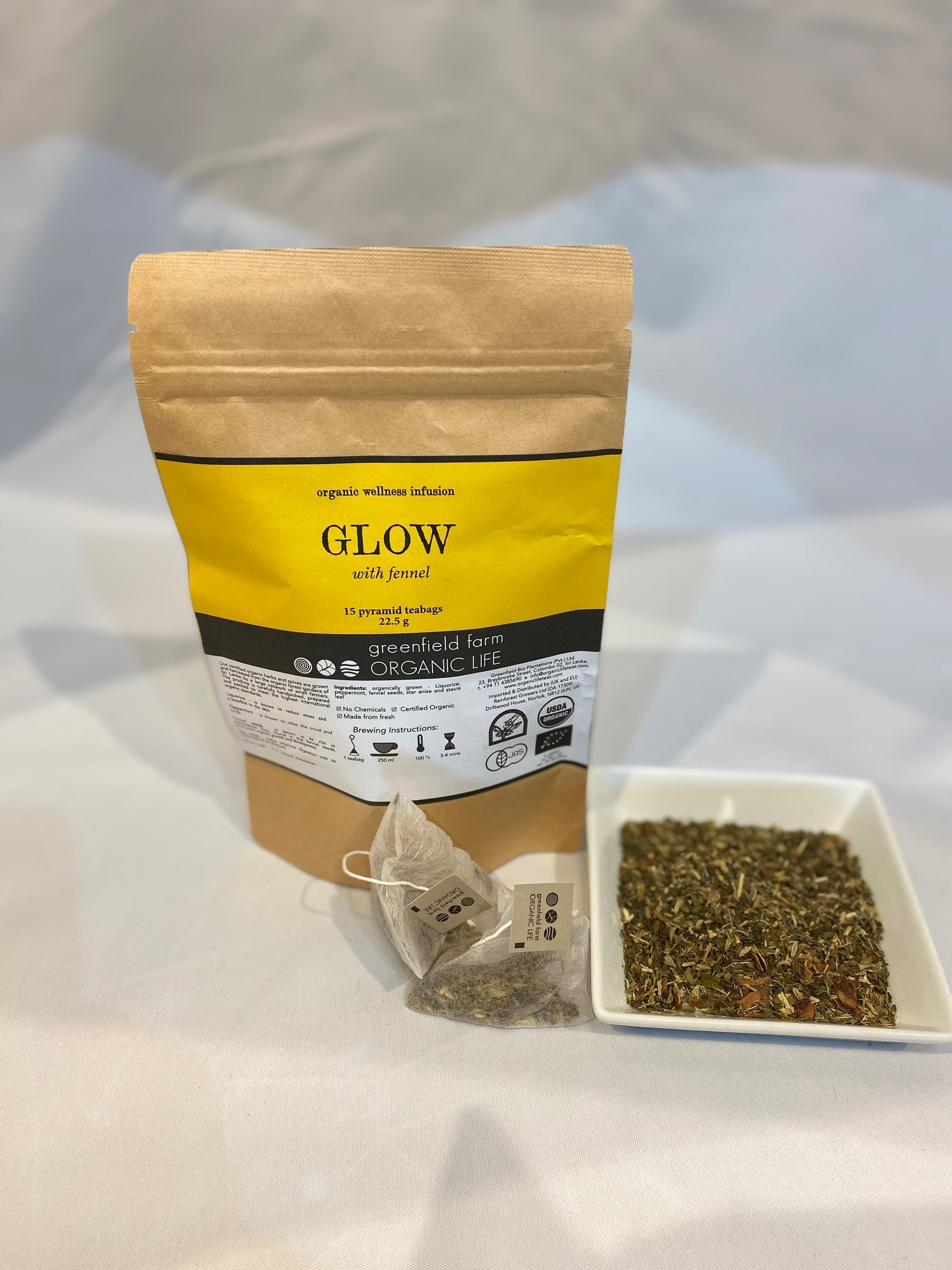 "organic life ""GLOW with fennel""「グロー・ハーブティー」"