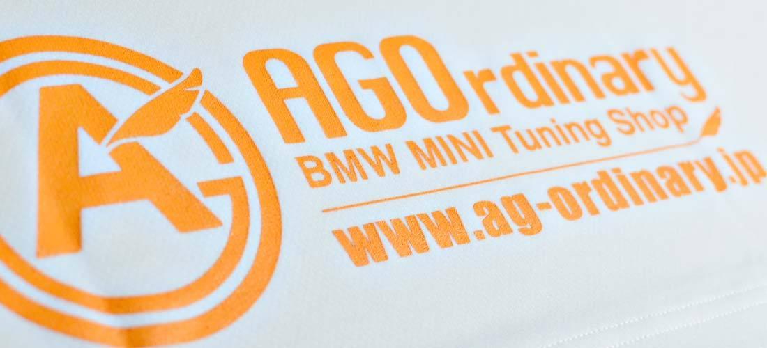 AGOロゴプリント オリジナルドライTシャツ white - 画像4