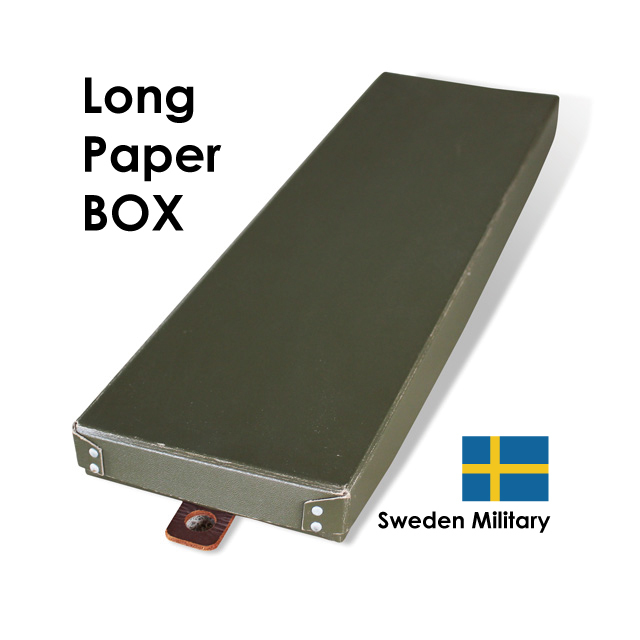Sweden Military / Long Paper BOX / USED