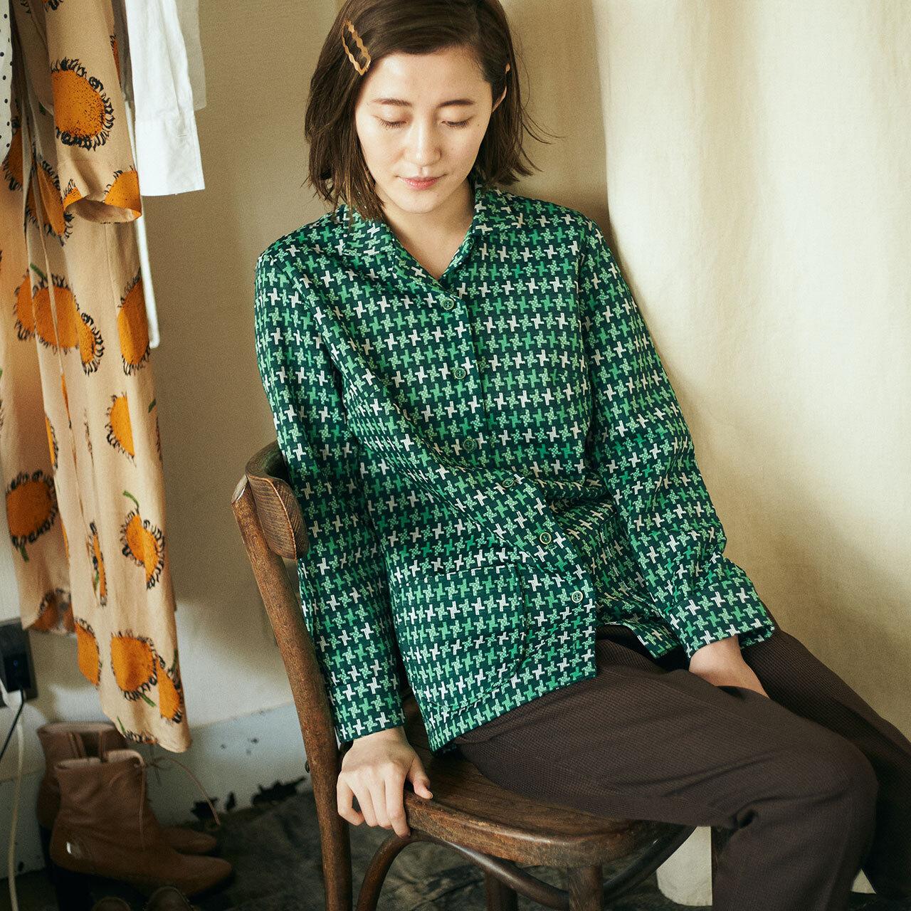 70's-80's Handmade green check jacket