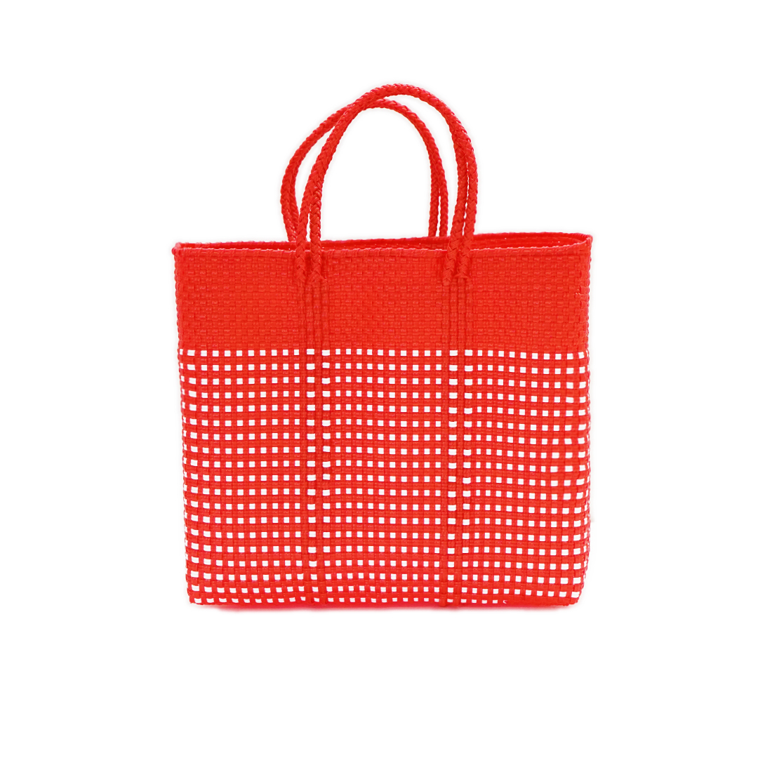 MERCADO BAG HALF MINI CHECK - Red(S)