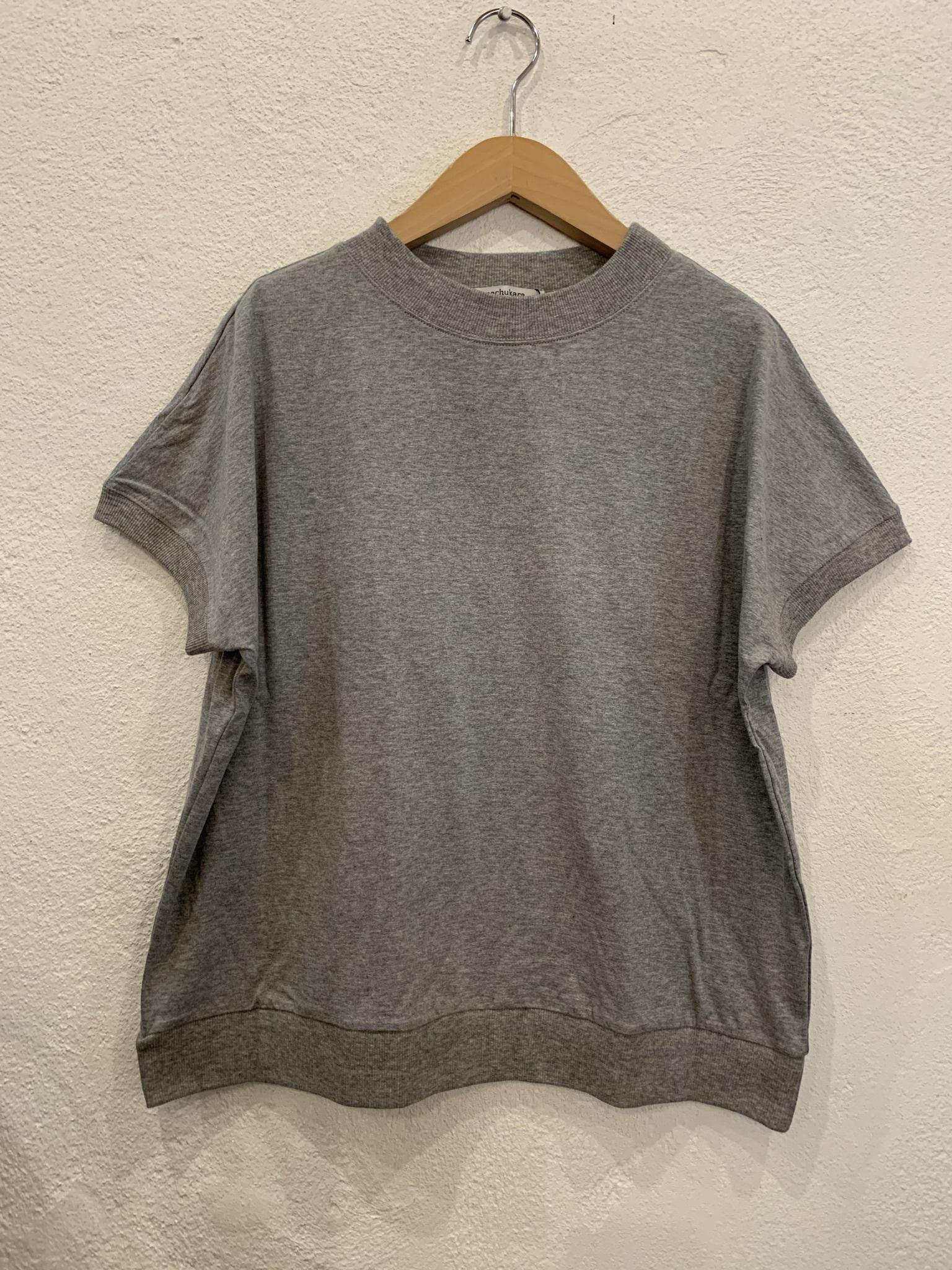 nachukara/リブドッキング半袖Tシャツ グレー