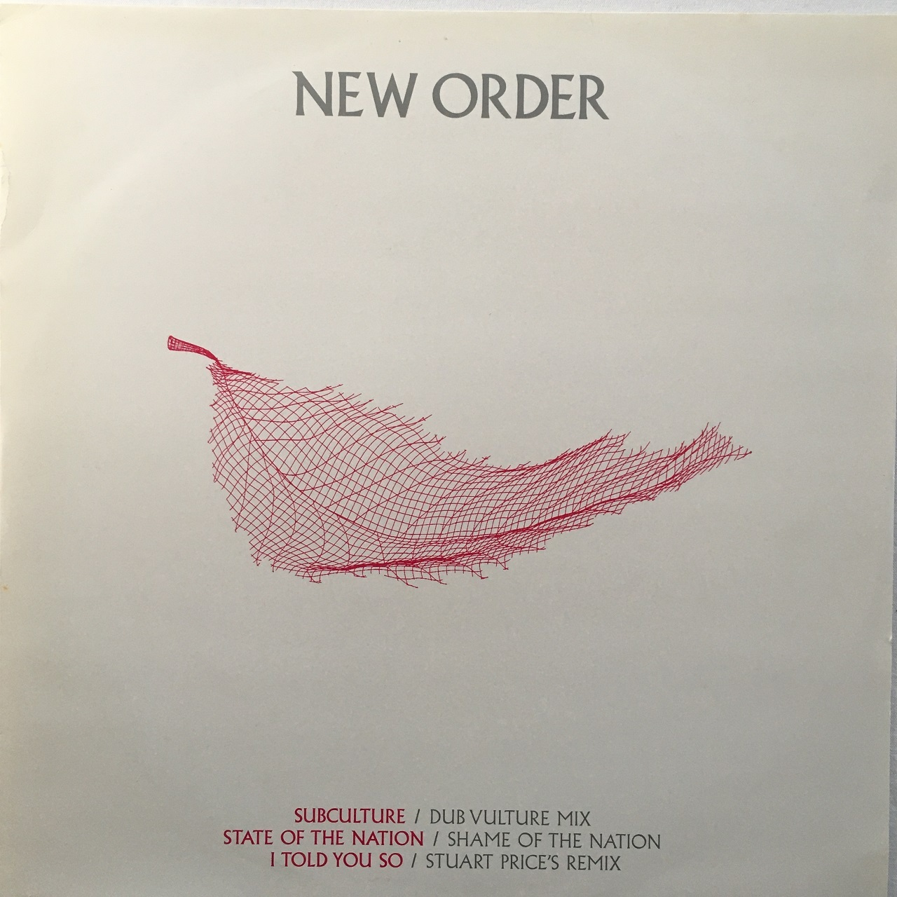 【12inch・英盤】New Order  /  Subculture・State Of The Nation・ I Told You So