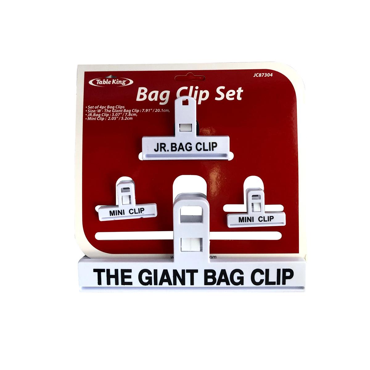 BAG CLIPS SET 4PC