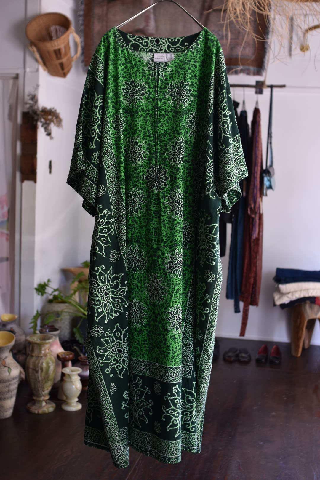African print caftan dress