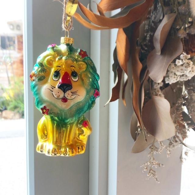 "Christmas Ornaments ""RETRO LION"" オーナメント ハロウィン クリスマス"
