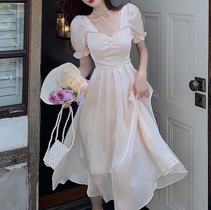 silky snow dress
