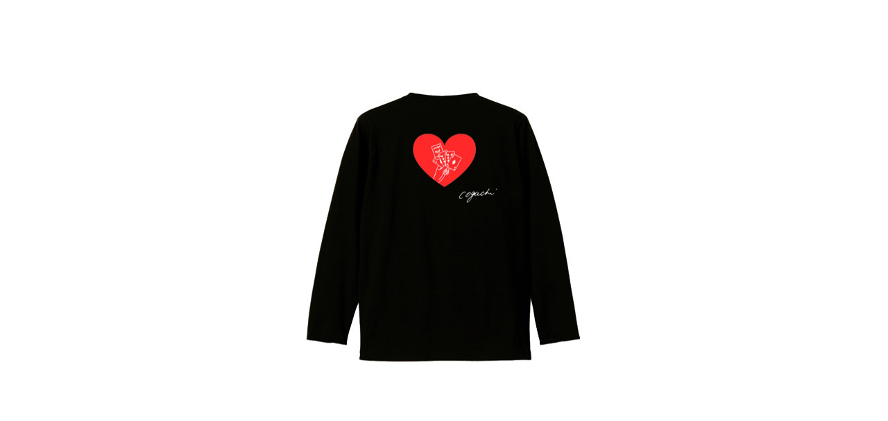coguchi playing cards long T-shirts (BK)