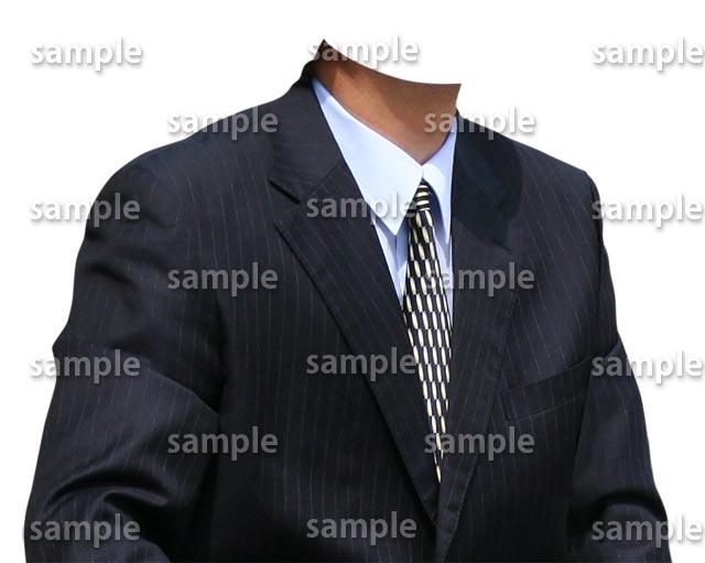 男性紺スーツ斜めB