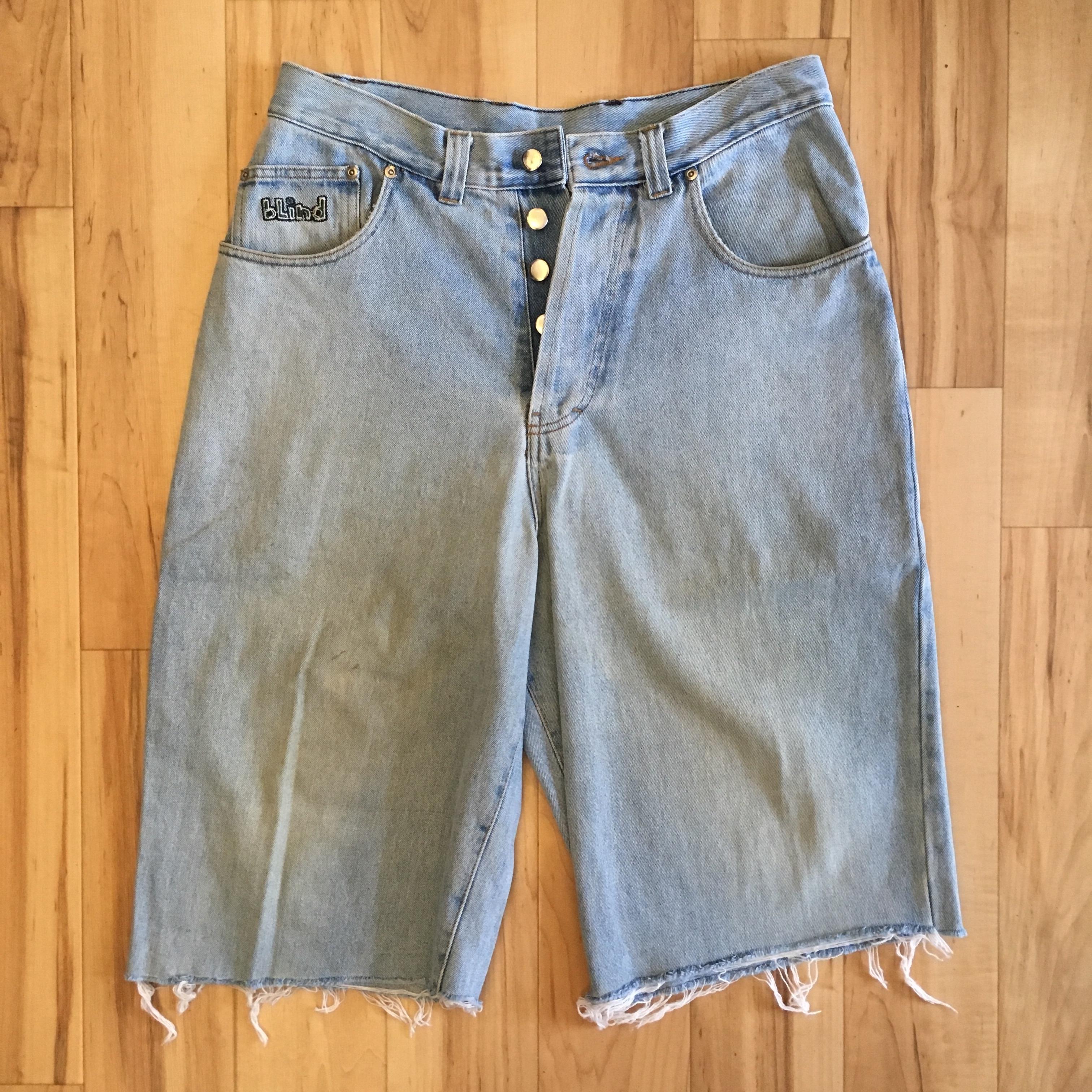 blind Denim Cut Off Pants