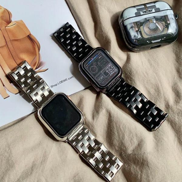 Apple Watch フレームカバー付き バンド ベルト 2カラー aw104