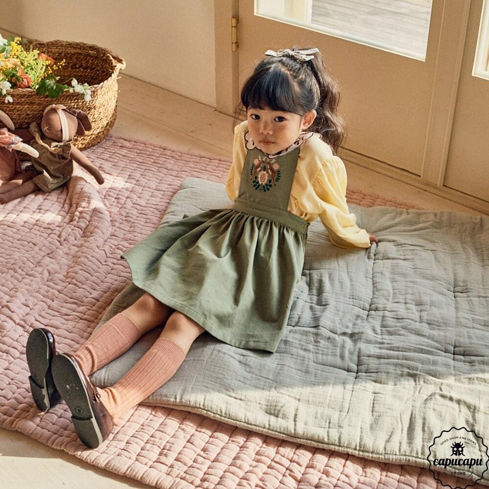 «sold out»«pour enfant» ディレイ 刺繍ジャンパースカート Delay jumper skirt