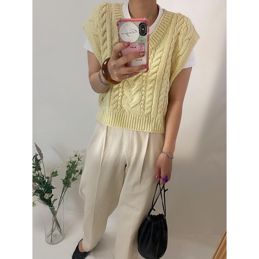 【asyu】pastel knit vest