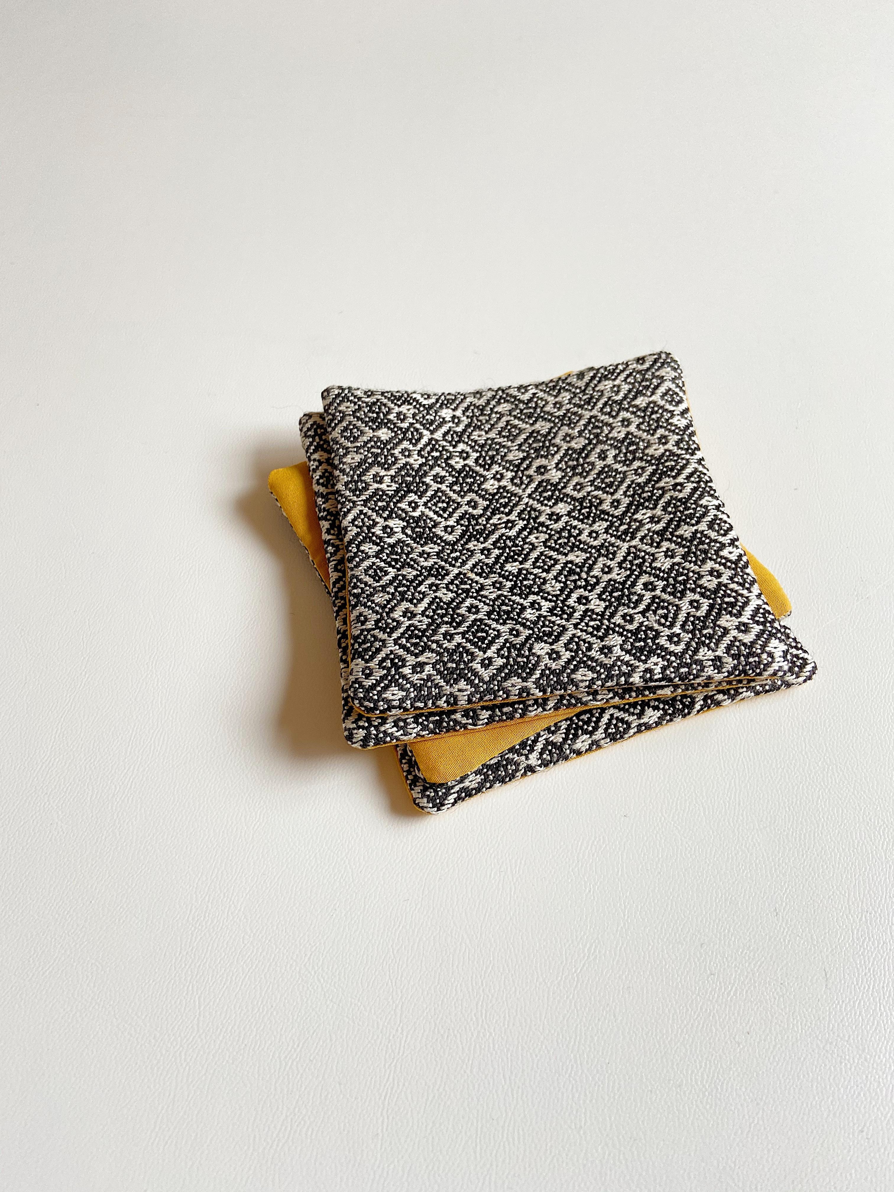 手織りコースター(HAND WOVEN Coaster Rocca )