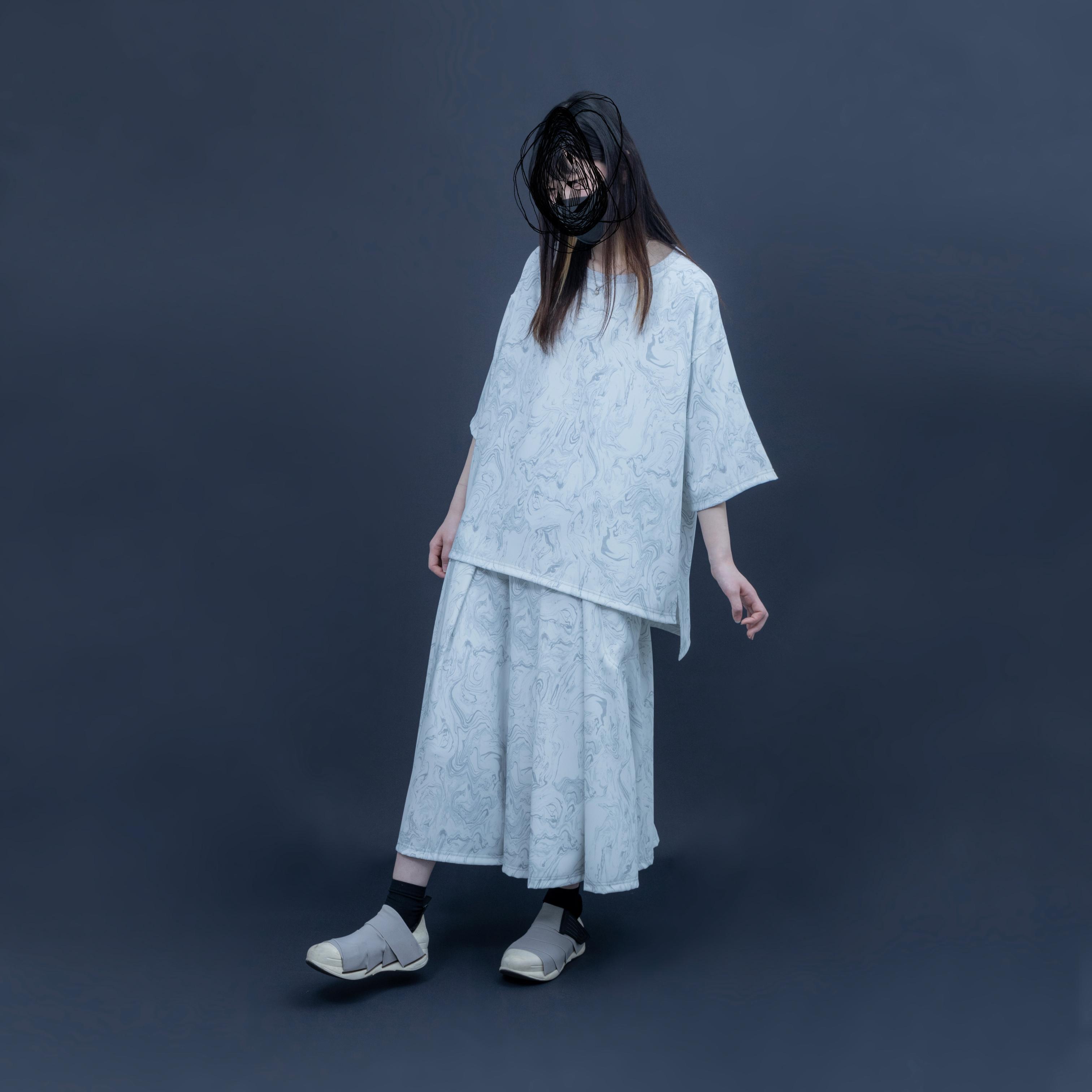 【オーダー受付】Basic-T-shirts  (grey marble)