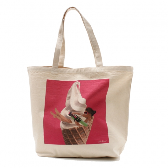 SOFT CREAM TOTE BAG(L)