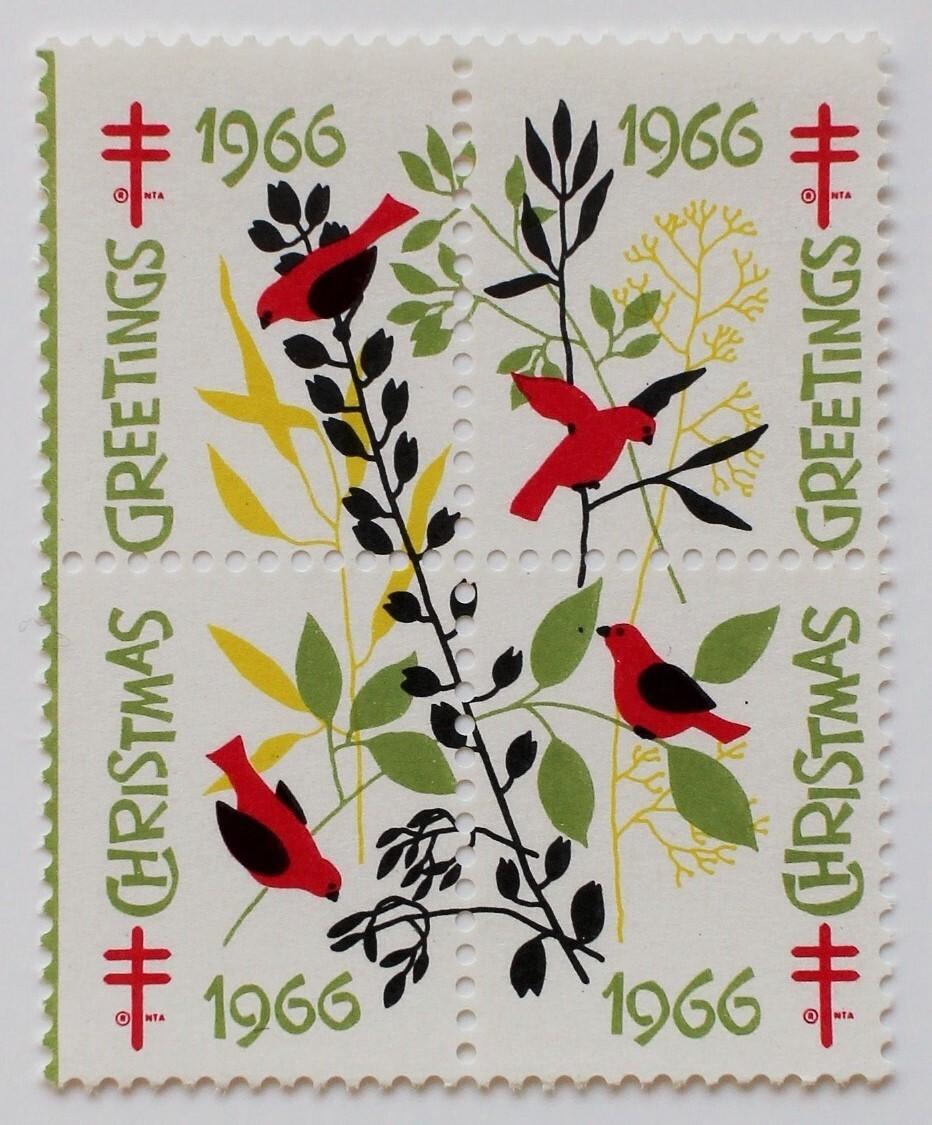 クリスマスシール・ホワイト / アメリカ 1966