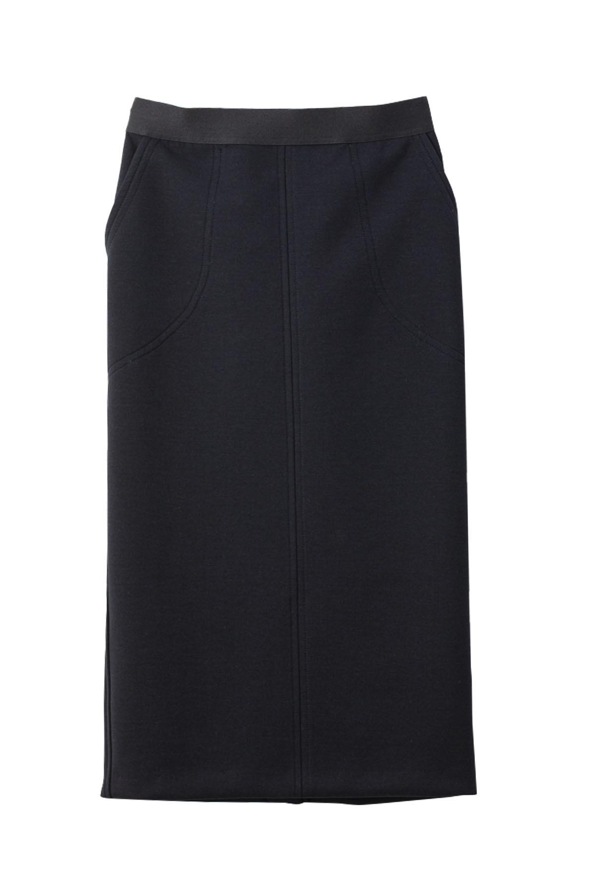 ポンチタイトスカート < ブラック > #