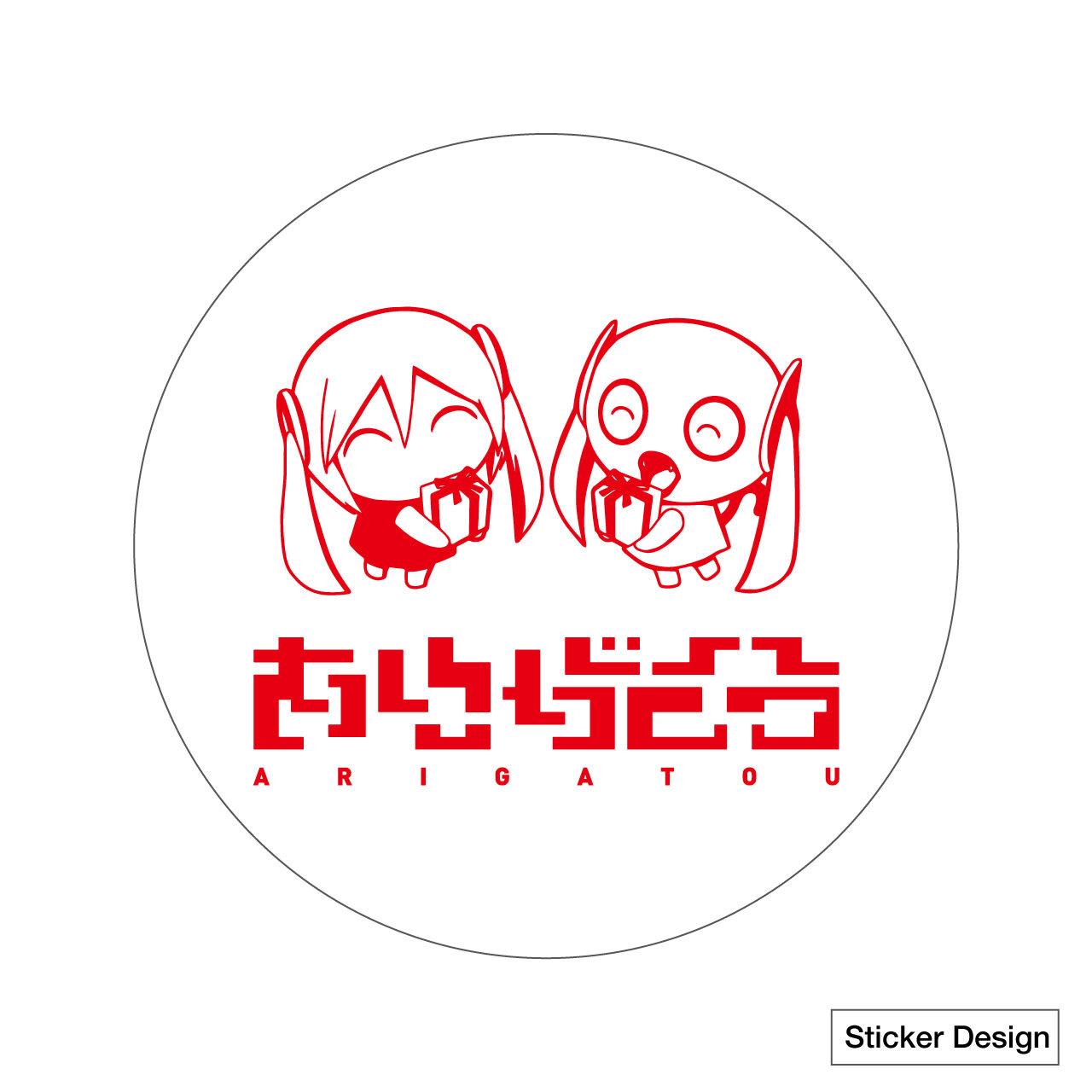 ピノキオピーベストアルバム寿リリースパーティ「ありがとう」Tシャツ+ステッカーセット - 画像3