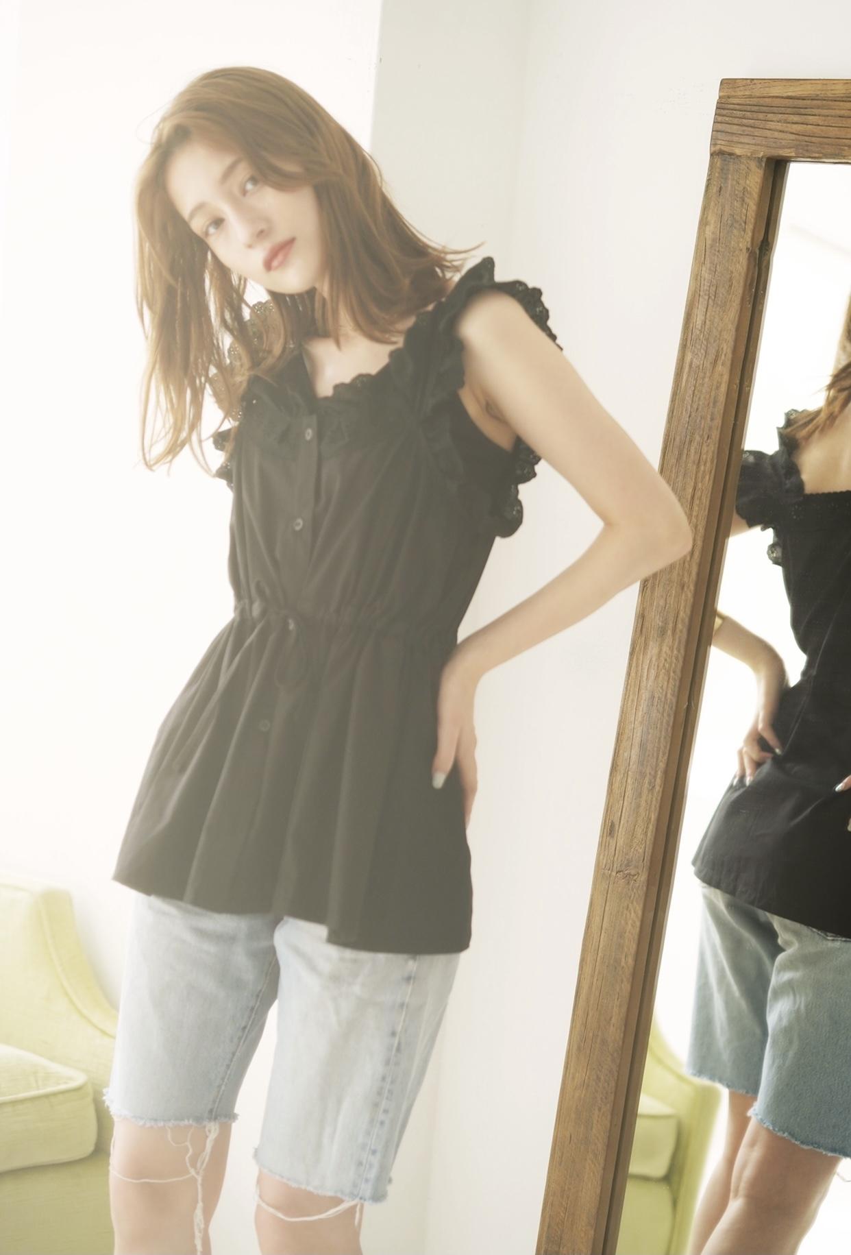 frill lace tunic(4/15L-13)
