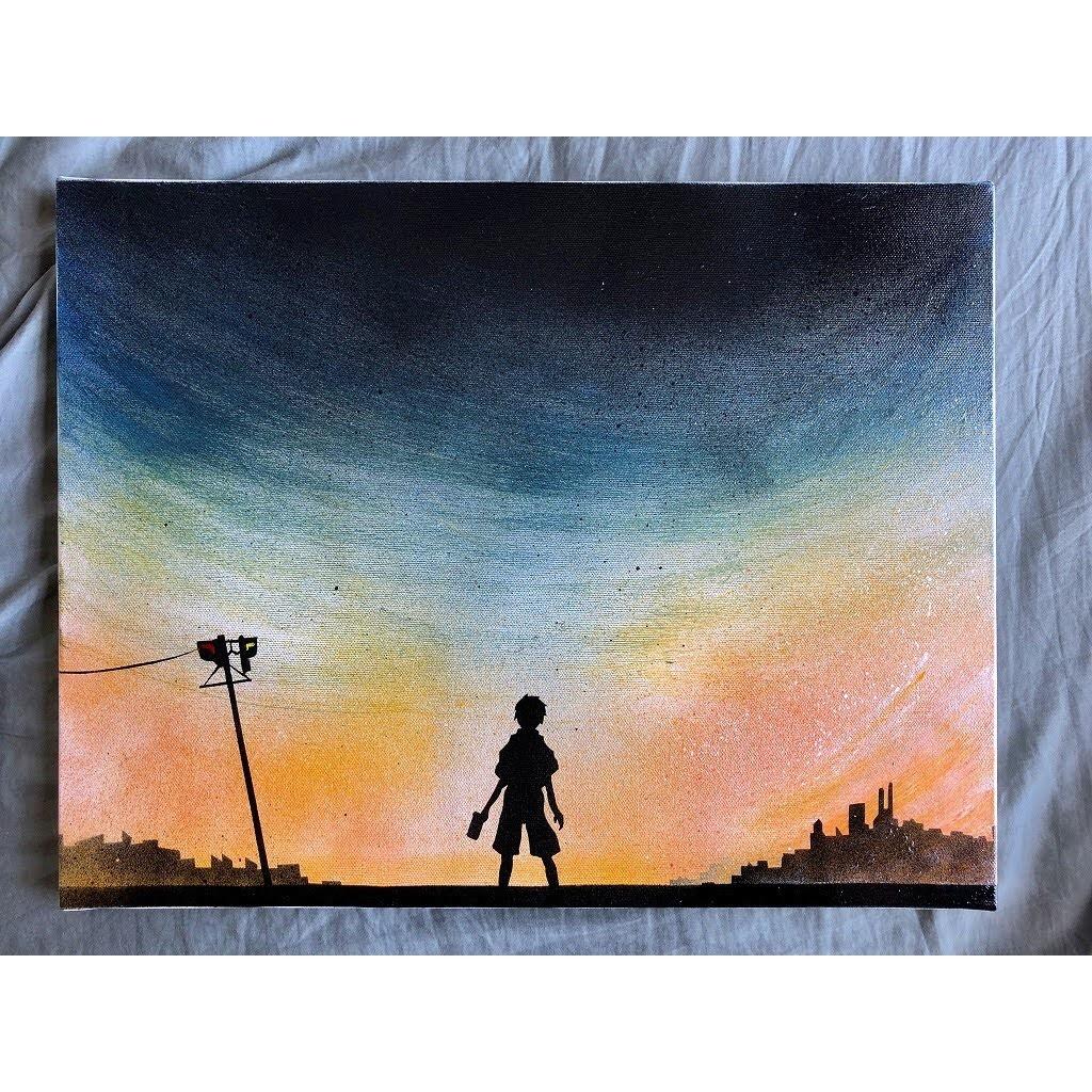 「追憶」キャンバスパネル風景画