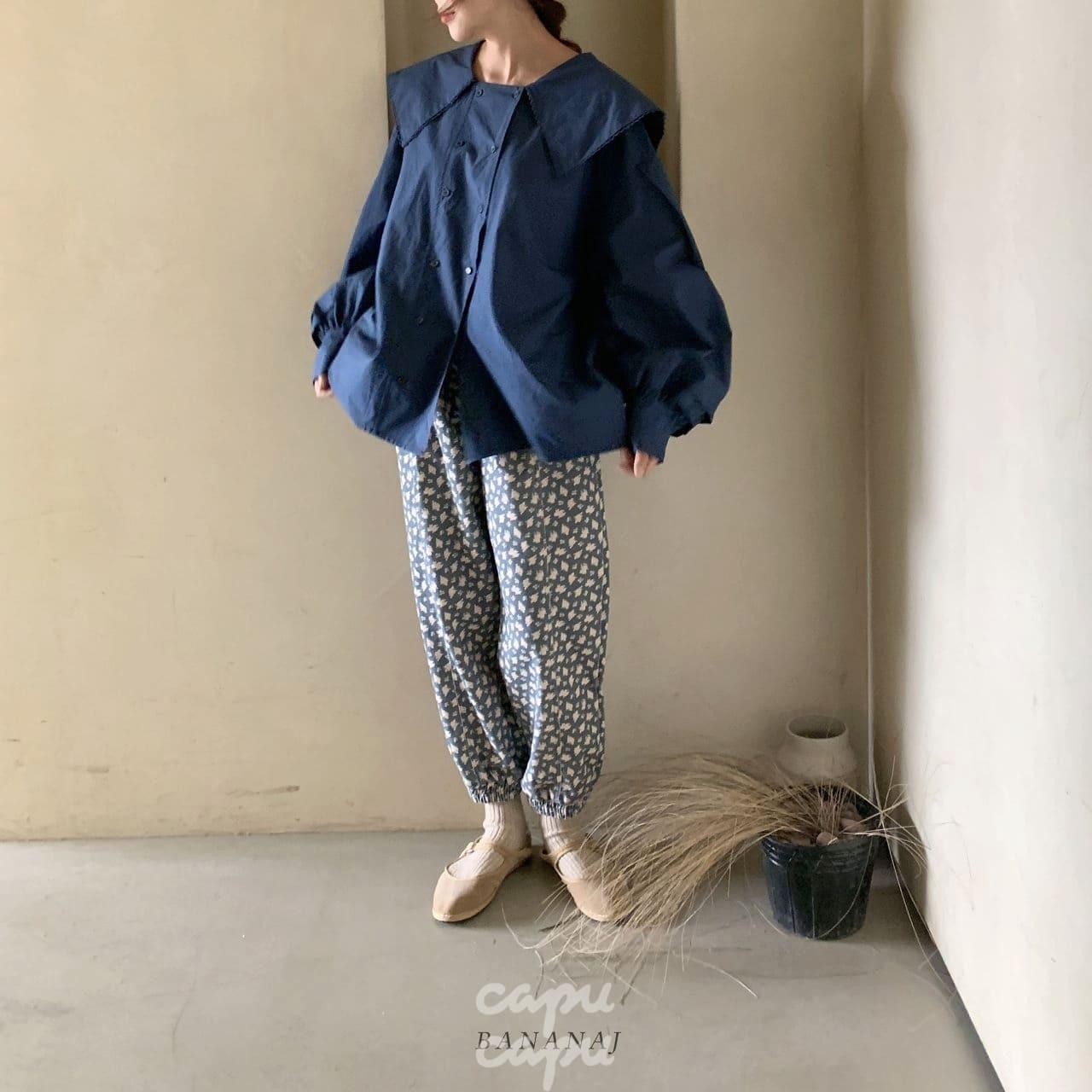 «sold out»«ママサイズ» banana j flower pants フラワーパンツ 2colors