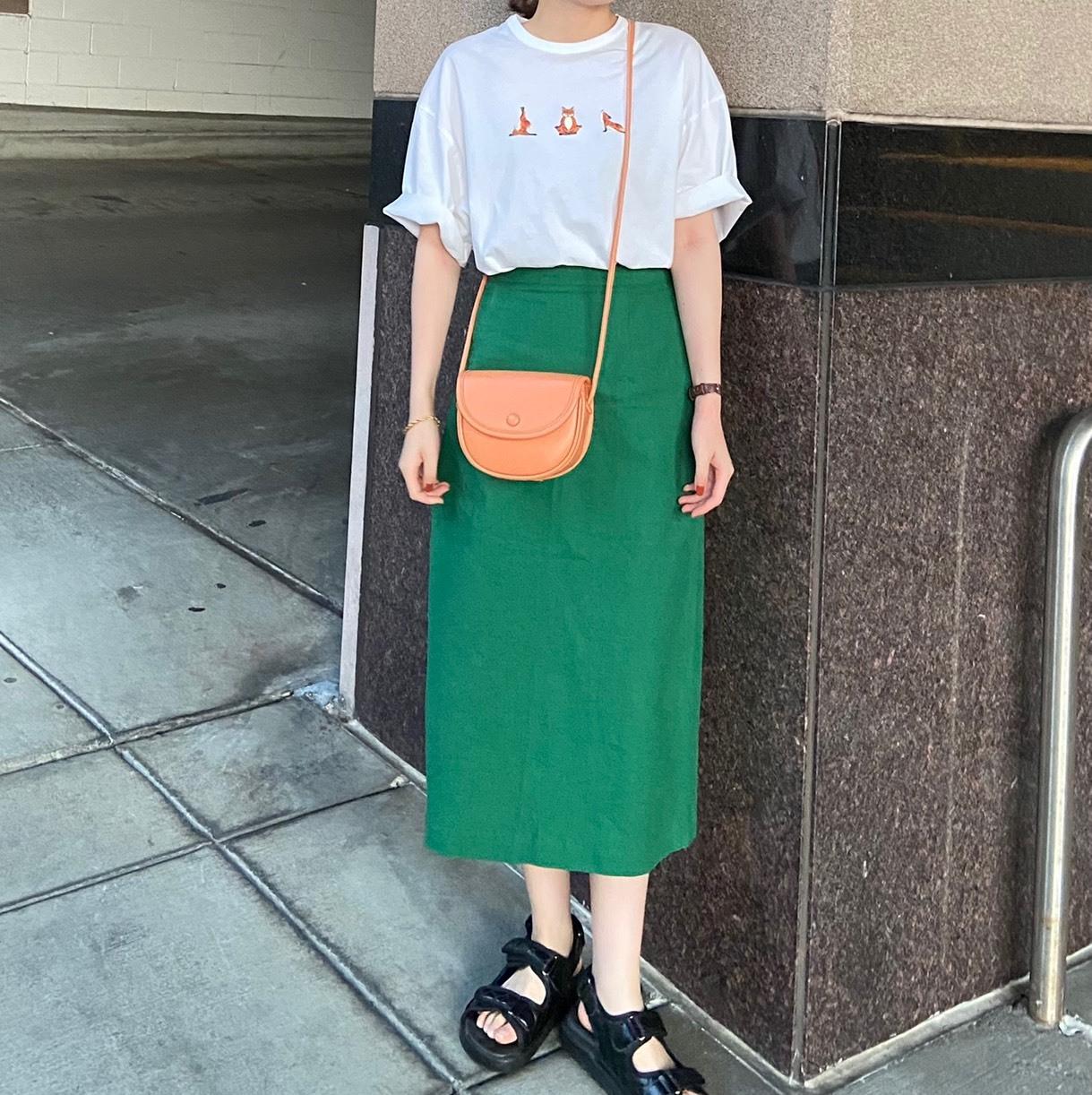 DAYNYC green skirt