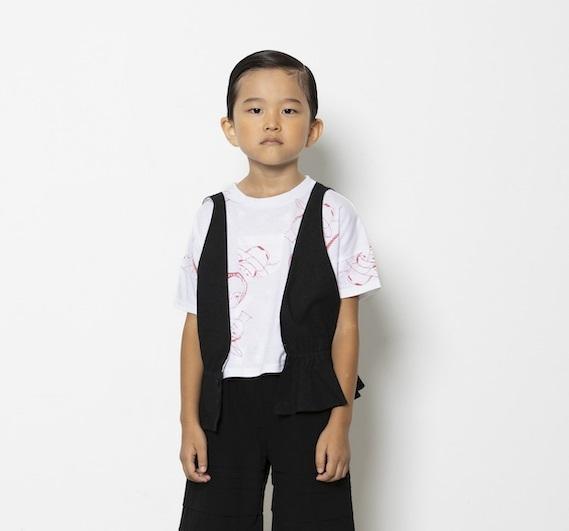 folk made フォルクメイド flare vest size:M(110-125)・L(125-140)