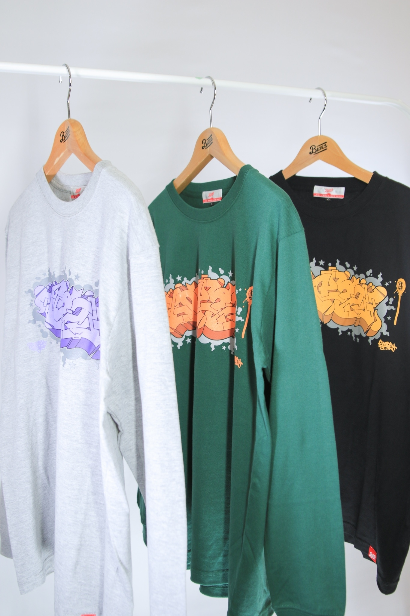 ITALY BLAZZ by Kreso World Wide COLLAB 00 L/S TEE [GREEN]
