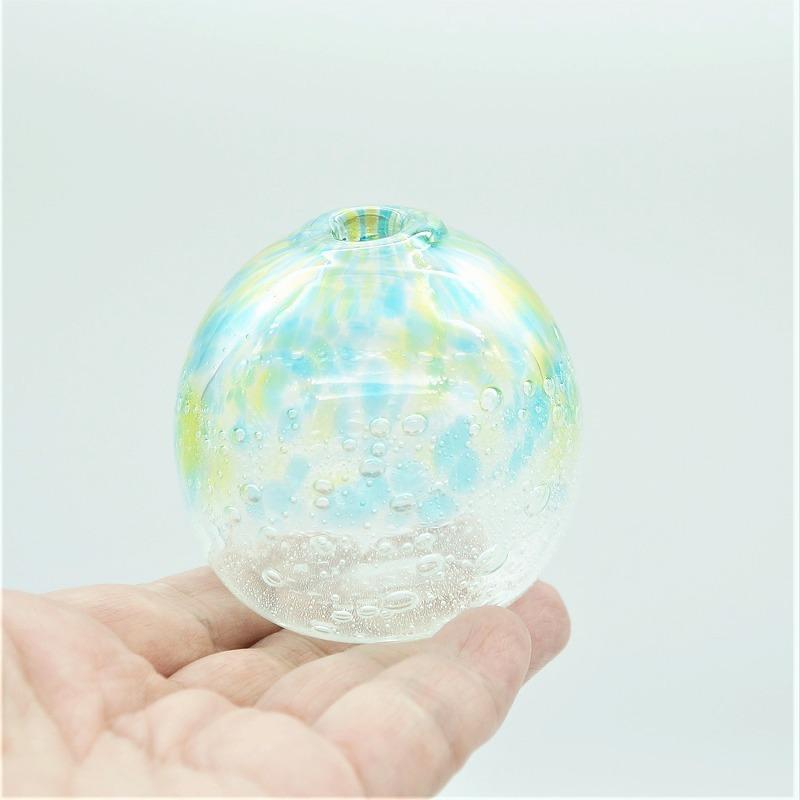 一輪挿し <K>【琉球ガラス工房 雫】