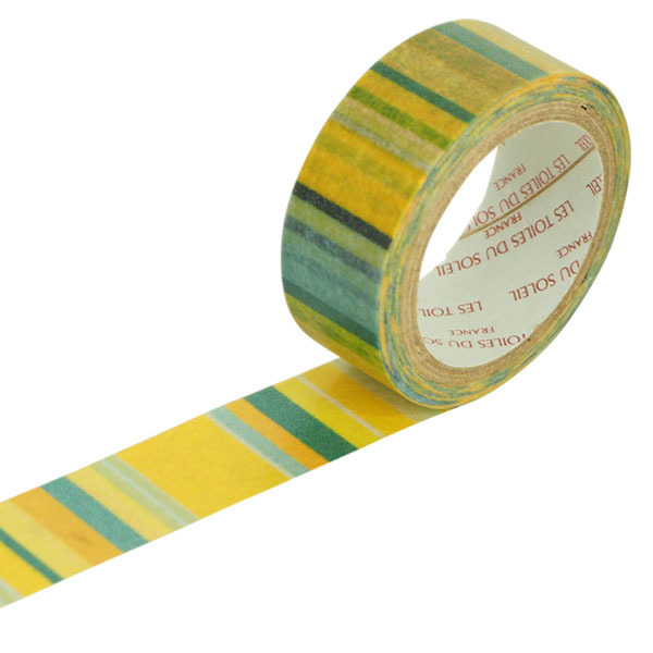 【LES TOILES DU SOLEIL】 マスキングテープ(シトロネル ジョンヌ アシッド ターコイズ/CITRONNELLE Jaune Acide Turquoise)