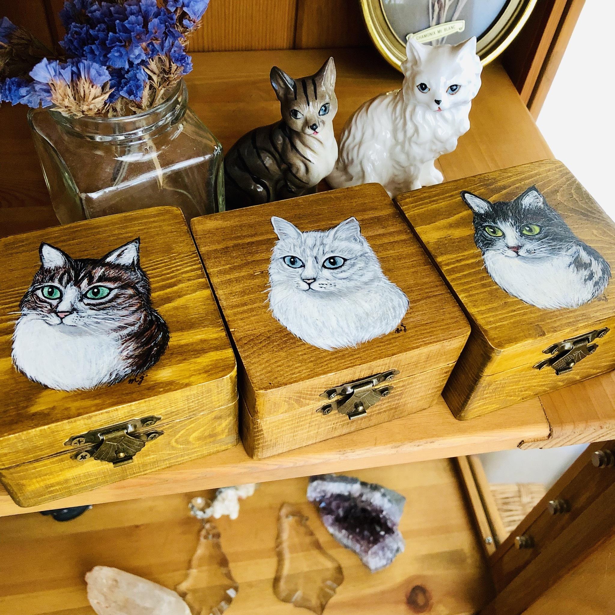 mimigris / 猫の木箱【送料無料】